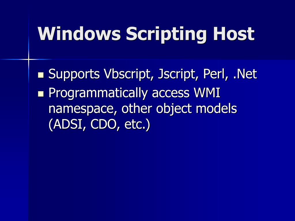 Windows Scripting Host