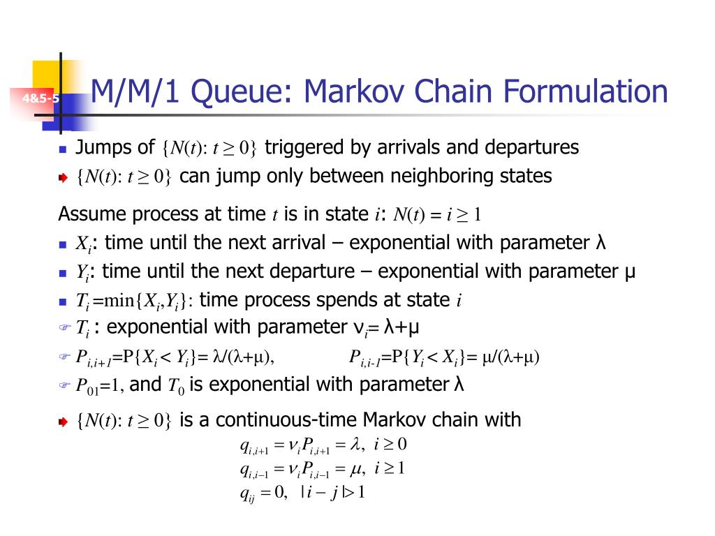 M/M/1 Queue: Markov Chain Formulation