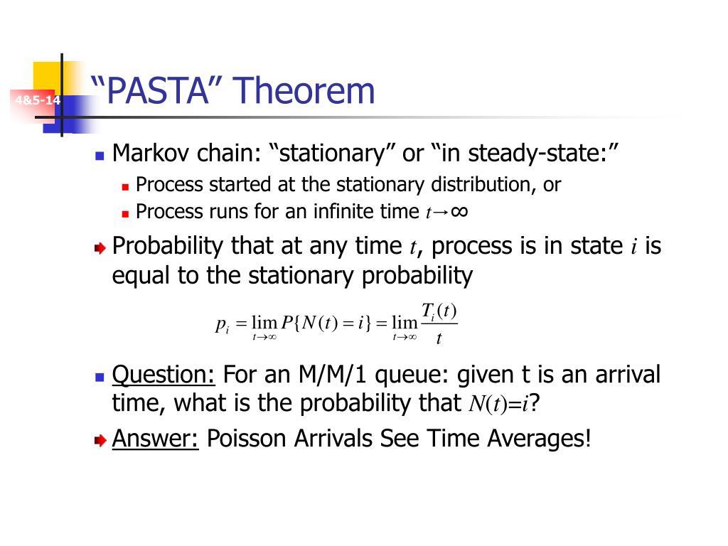 """PASTA"" Theorem"