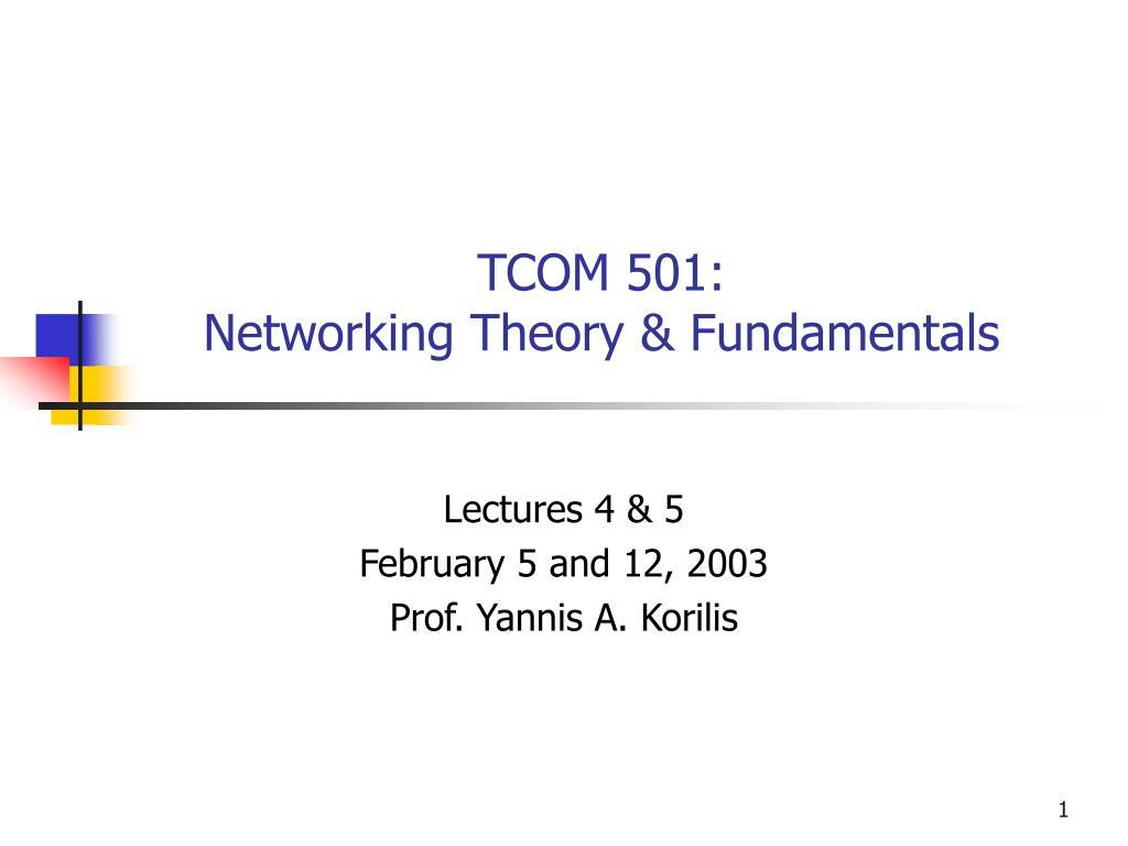 TCOM 501: