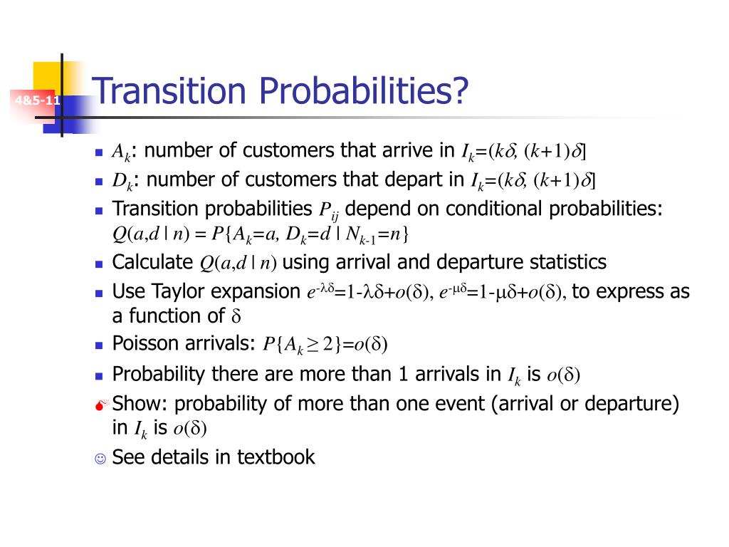Transition Probabilities?