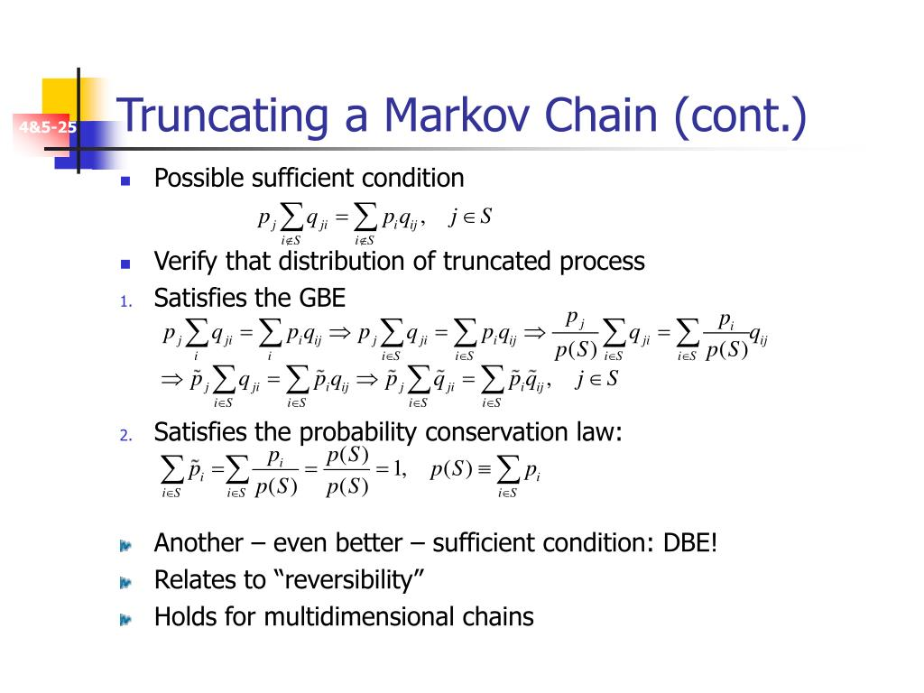Truncating a Markov Chain (cont.)