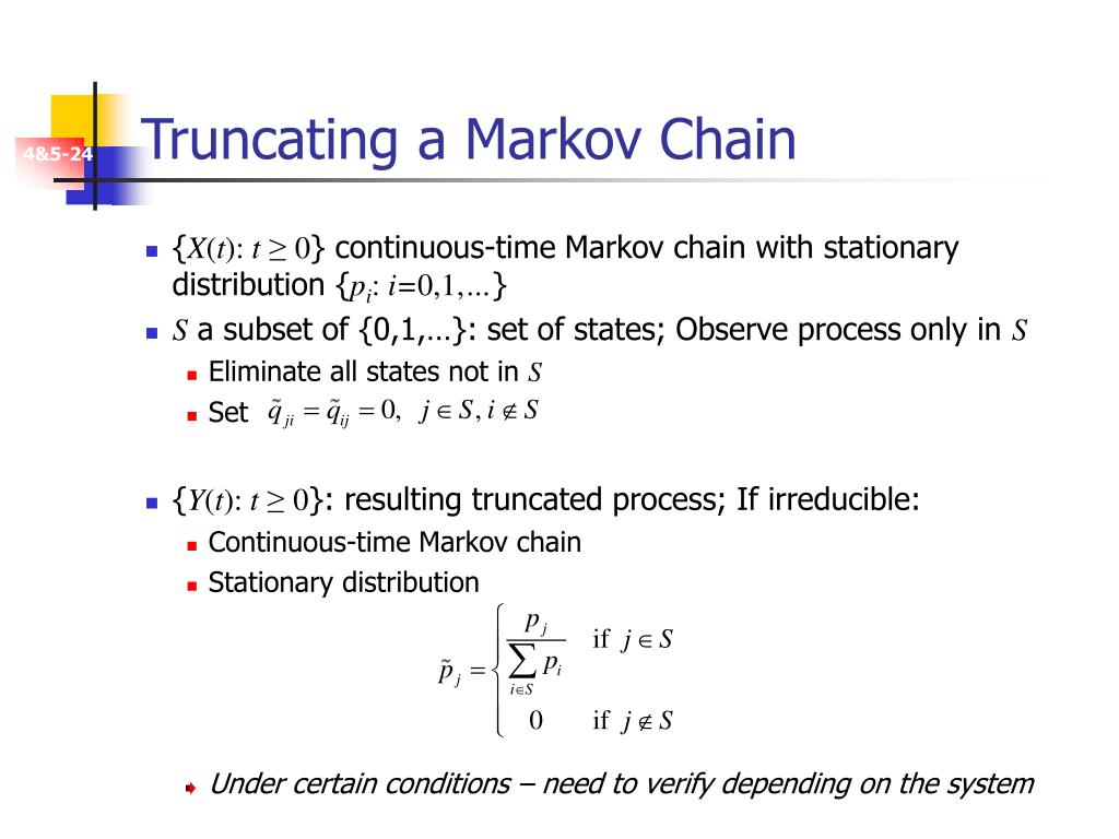 Truncating a Markov Chain