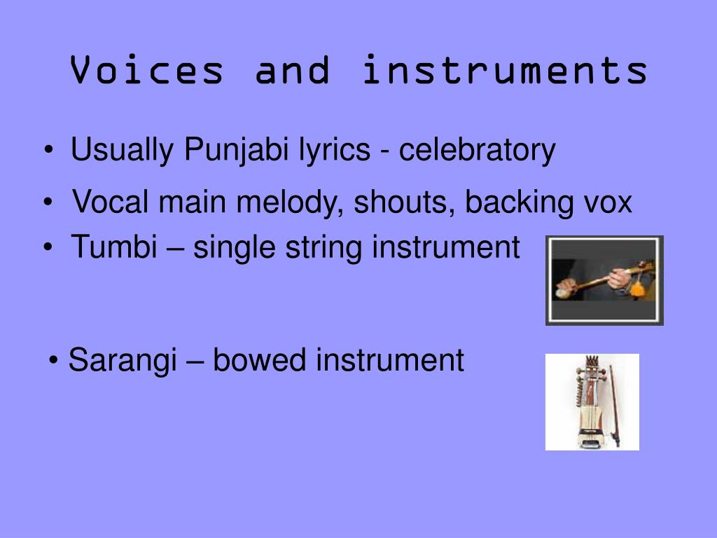 Voices and instruments