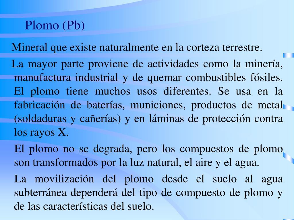 Plomo (Pb)