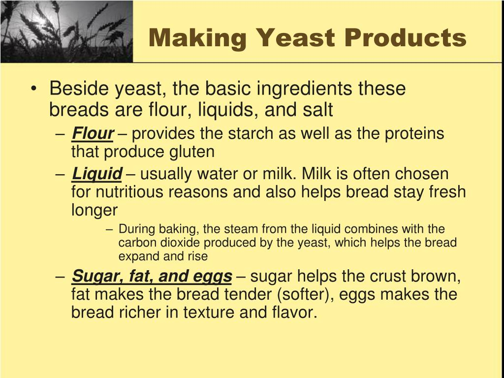 Making Yeast Products