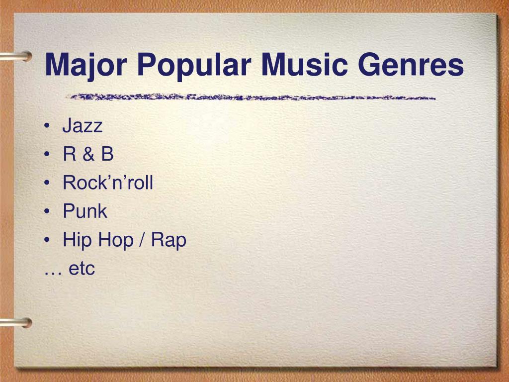 Major Popular Music Genres