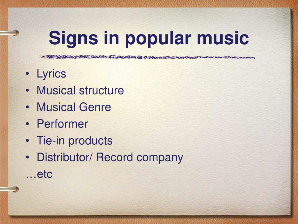 Signs in popular music