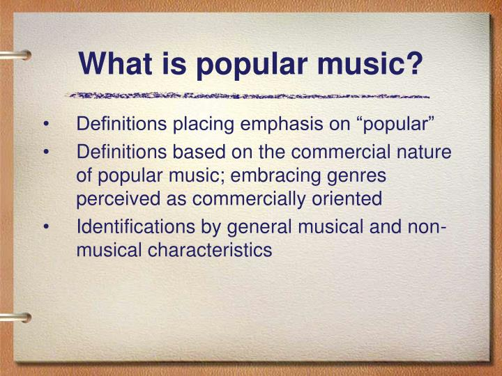 What is popular music