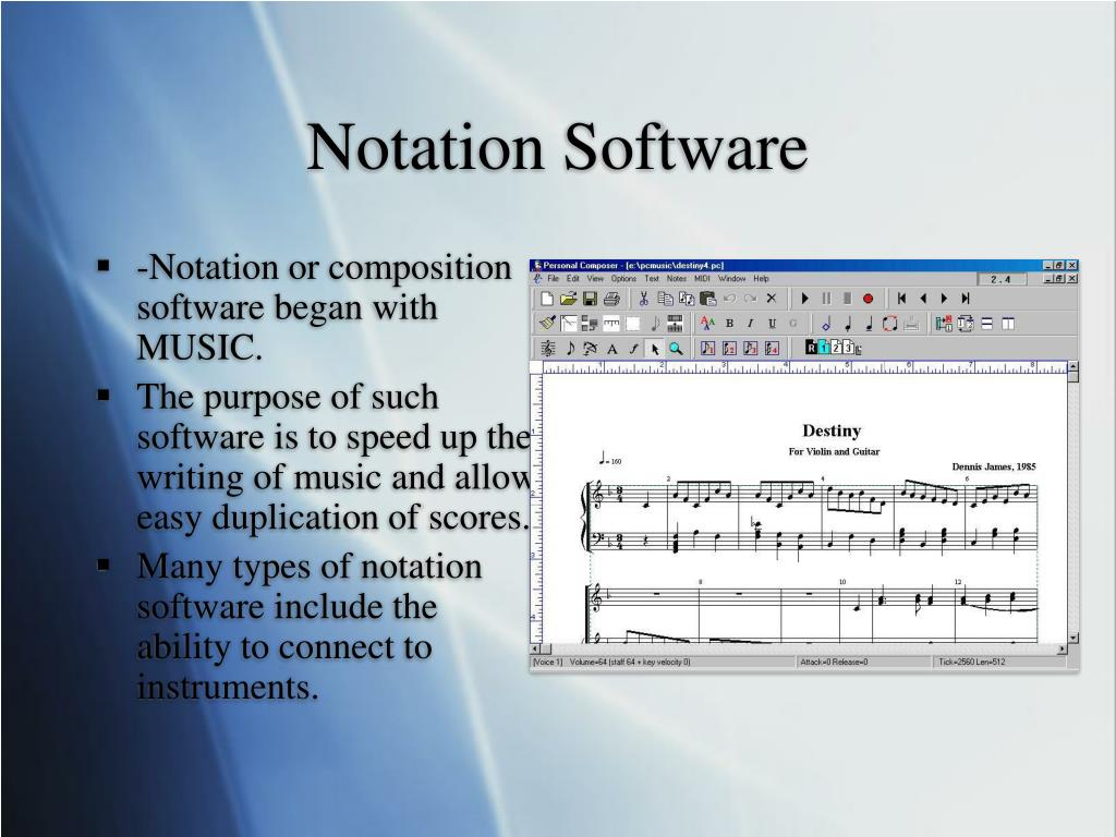 Notation Software