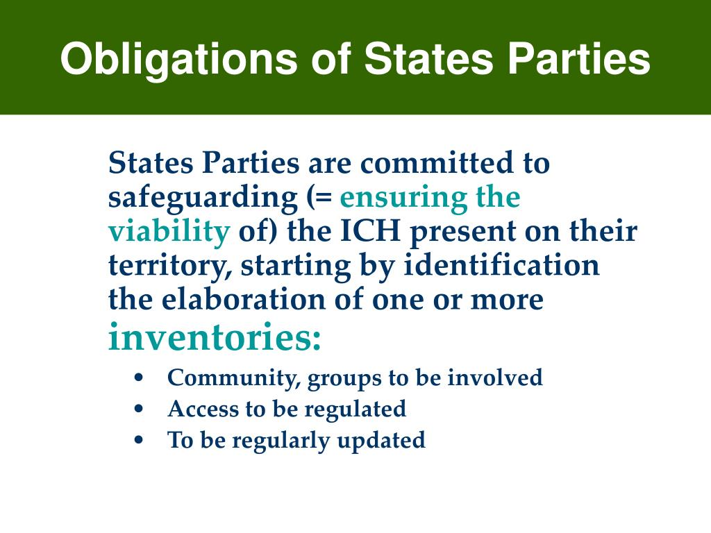 Obligations of States Parties