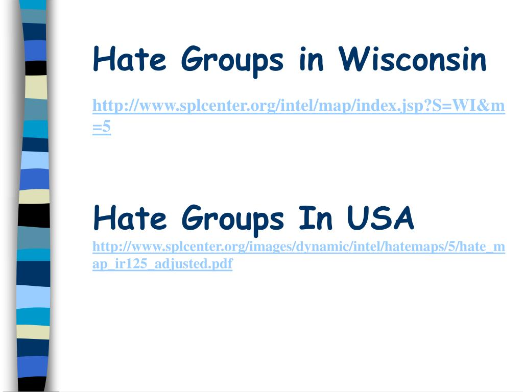 Hate Groups in Wisconsin