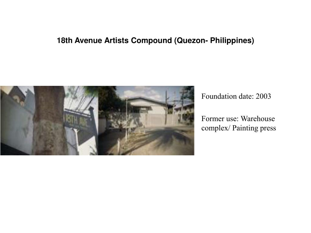18th Avenue Artists Compound (Quezon- Philippines)
