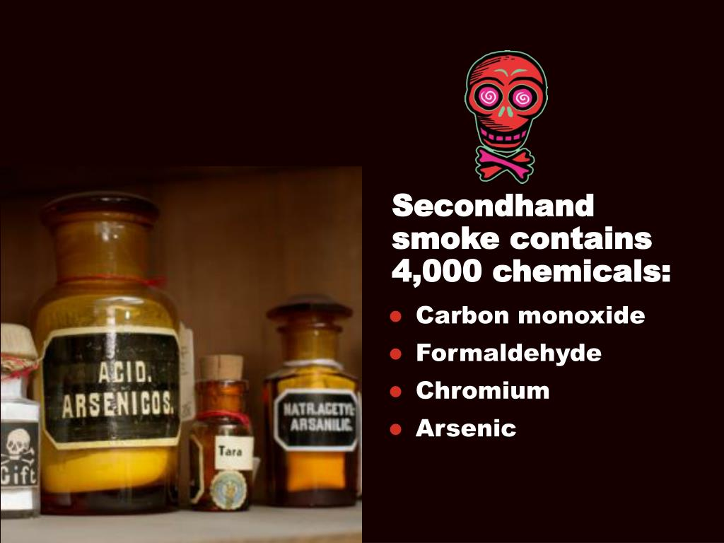 Secondhand smoke contains 4,000 chemicals: