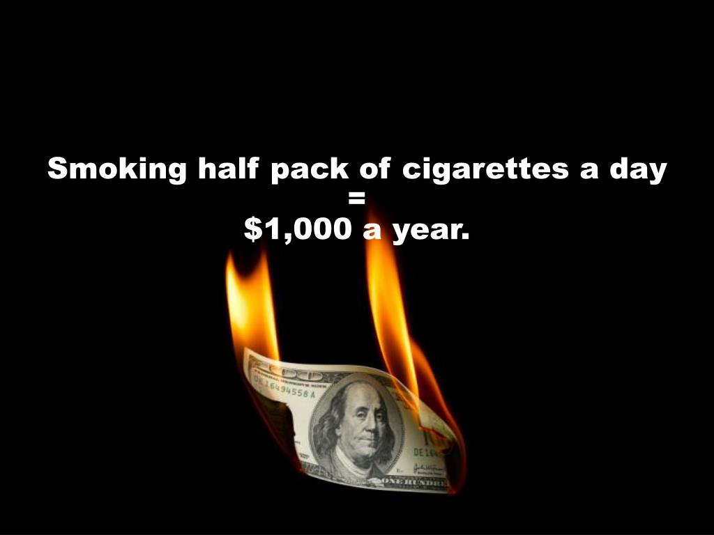 Smoking half pack of cigarettes a day