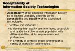 acceptability of information society technologies