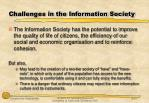 challenges in the information society