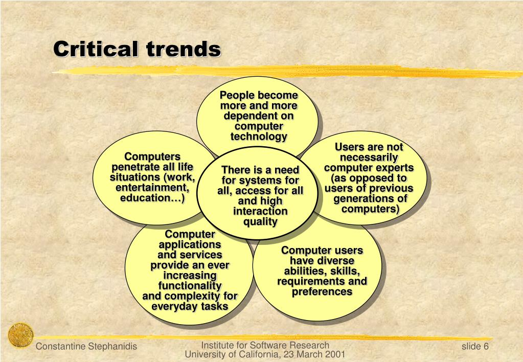 Critical trends