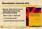 dissemination channels 2 2