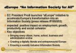 e europe an information society for all