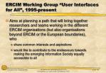 ercim working group user interfaces for all 1995 present