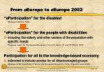 from e europe to e europe 2002