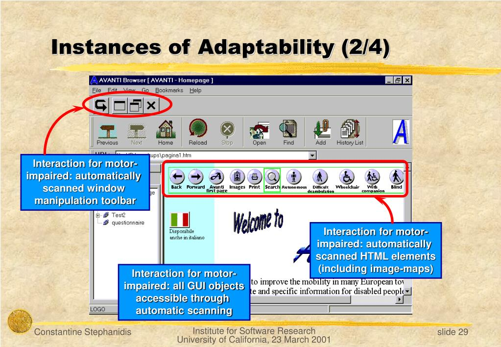 Instances of Adaptability (2/4)
