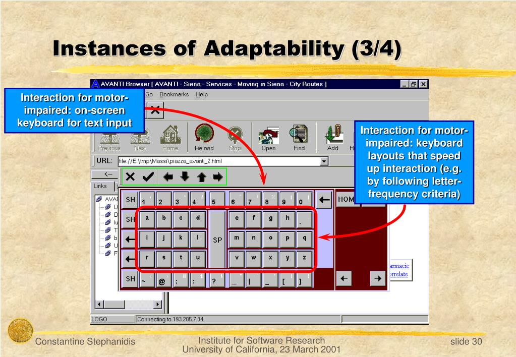 Instances of Adaptability (3/4)