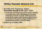 is4all thematic network 1 3