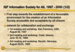 isf information society for all 1997 2000 1 2