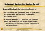 universal design or design for all