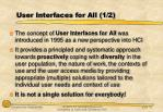 user interfaces for all 1 2