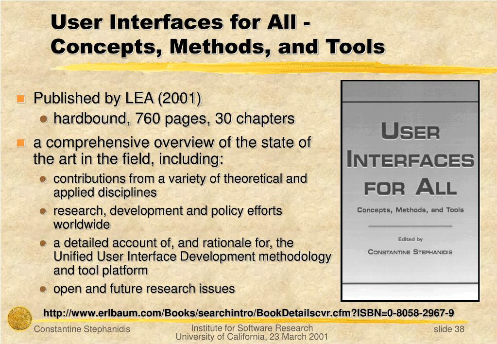 User Interfaces for All -