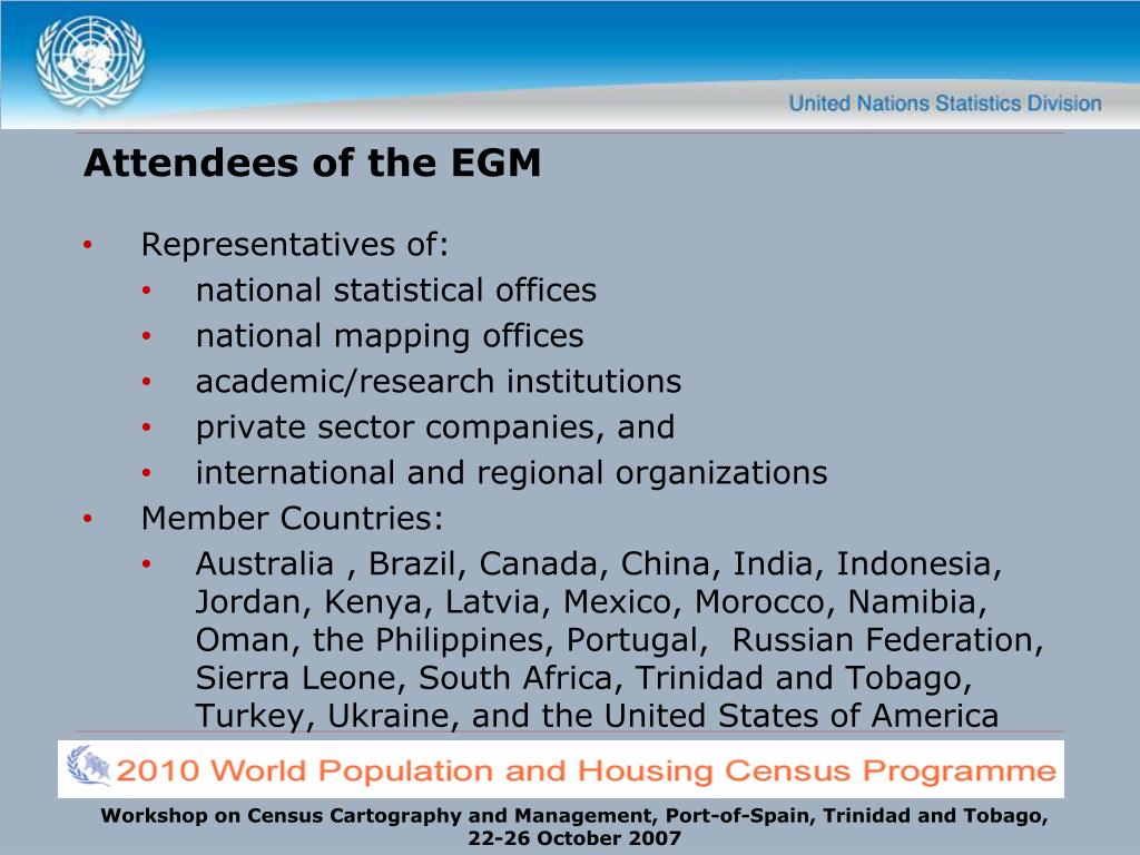Attendees of the EGM