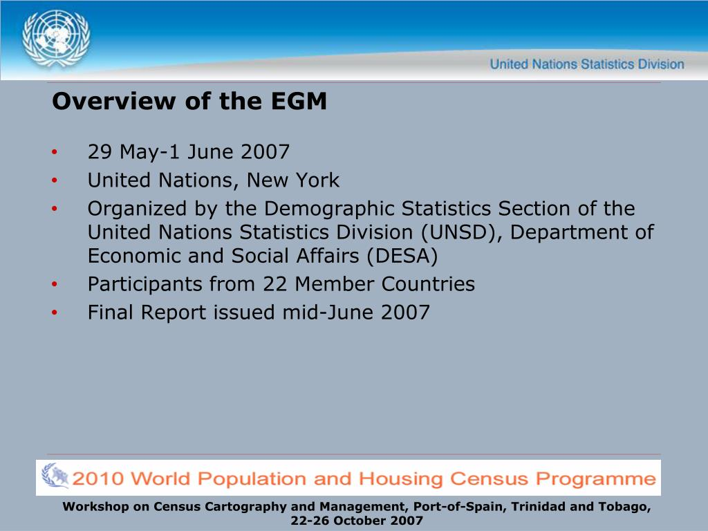 Overview of the EGM