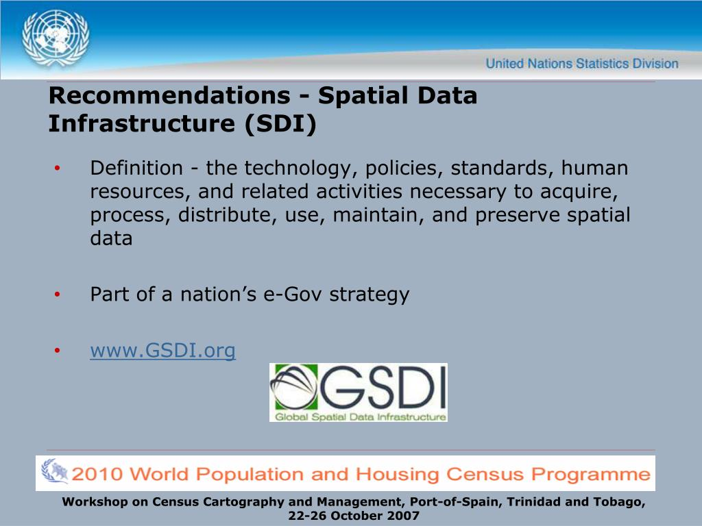 Recommendations - Spatial Data Infrastructure (SDI)