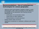 recommendations use of contemporary technologies for census geography