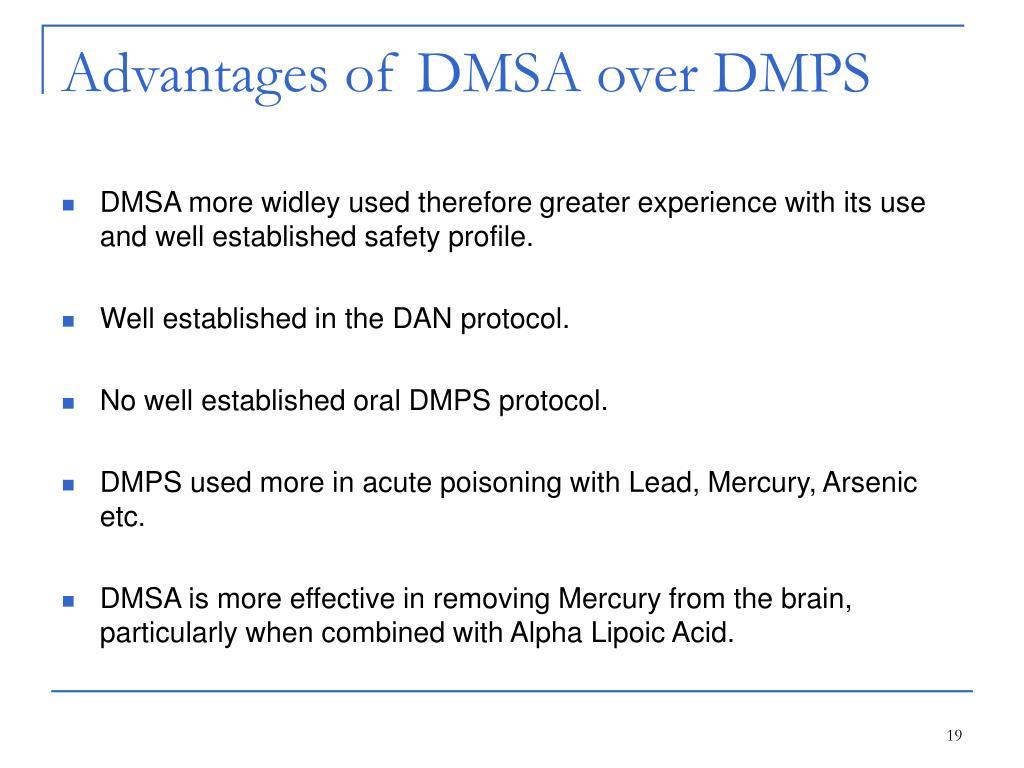 Advantages of DMSA over DMPS