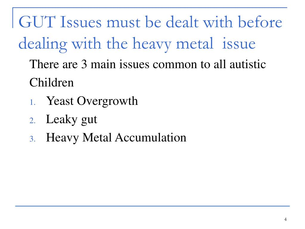 GUT Issues must be dealt with before dealing with the heavy metal  issue