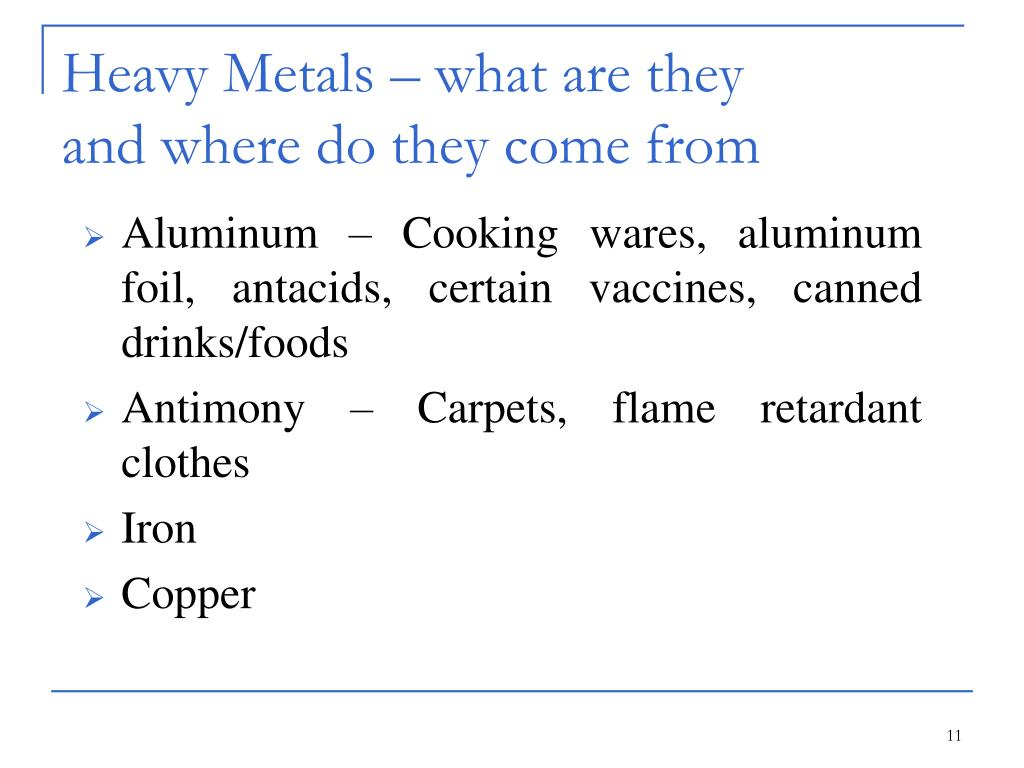 Heavy Metals – what are they