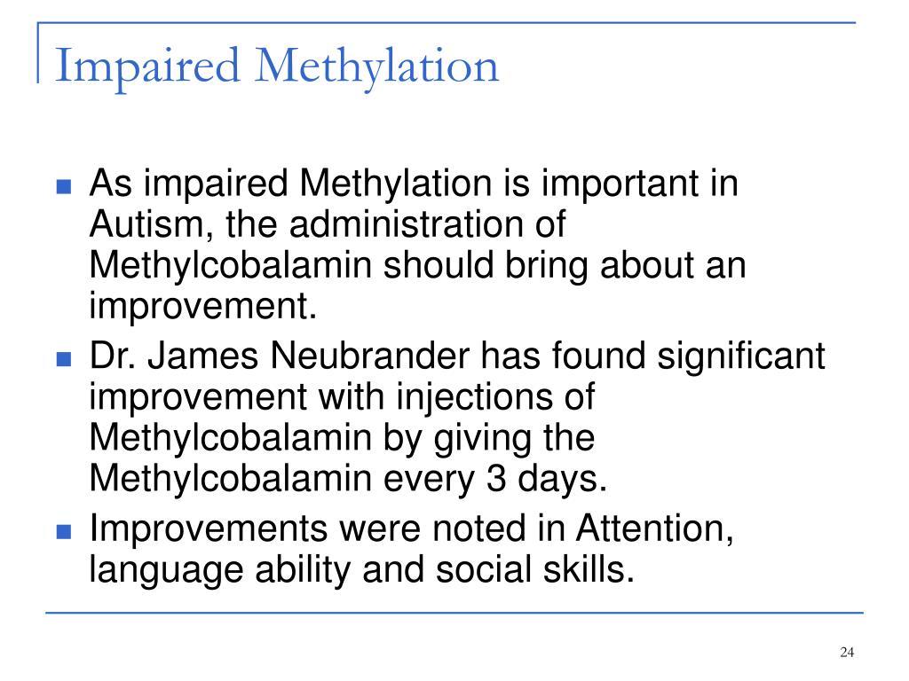 Impaired Methylation