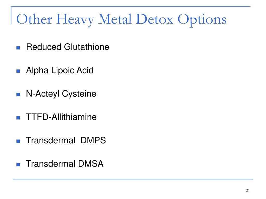 Other Heavy Metal Detox Options