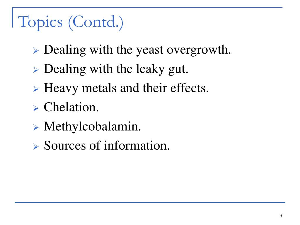 Topics (Contd.)