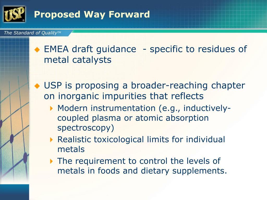Proposed Way Forward