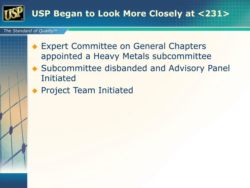 USP Began to Look More Closely at <231>