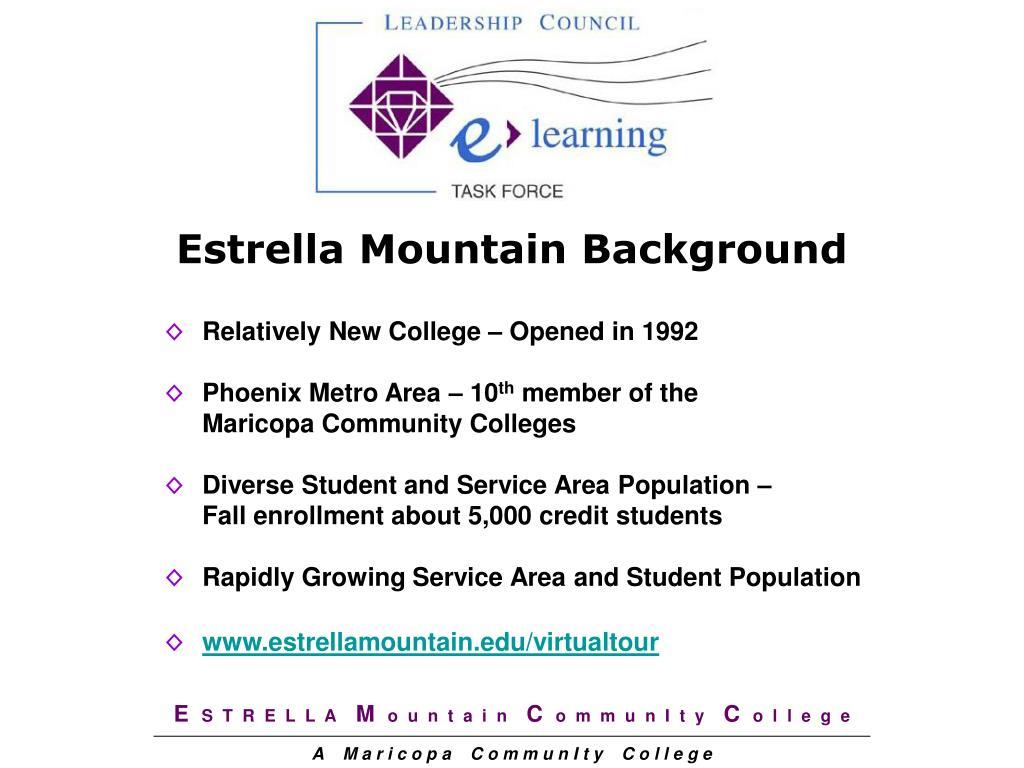 Estrella Mountain Background