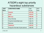 atsdr s eight top priority hazardous substances