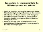 suggestions for improvements to the npi state process and website
