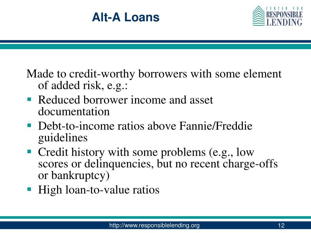 Alt-A Loans