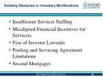 existing obstacles to voluntary modifications